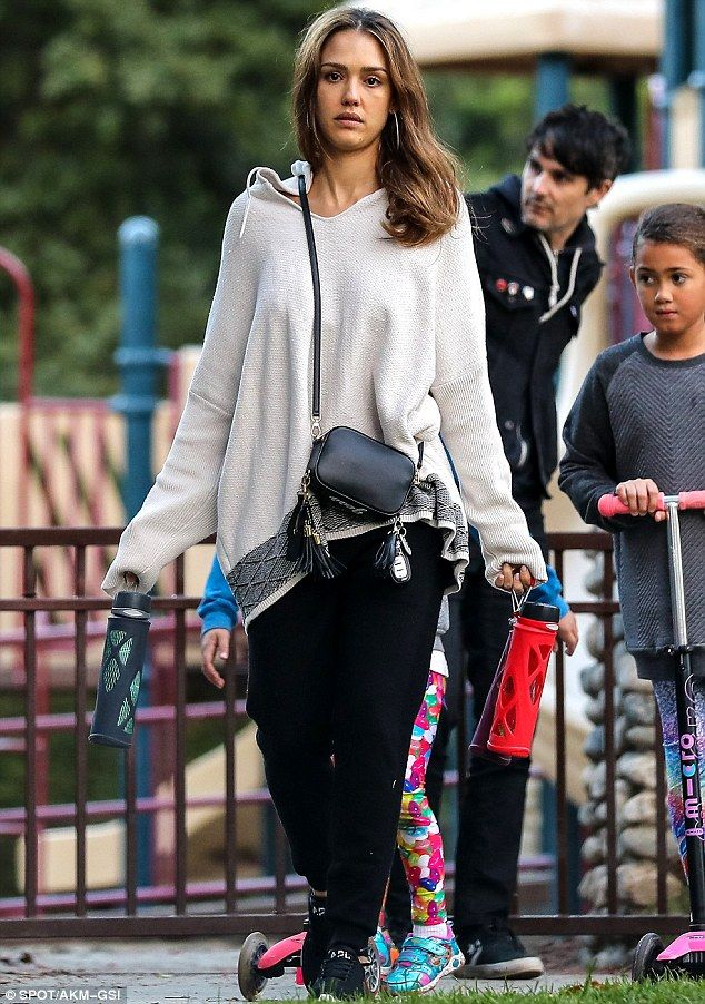 Bonding time! On Sunday, Jessica Alba, 35, enjoyed a family day at a Beverly Hills park