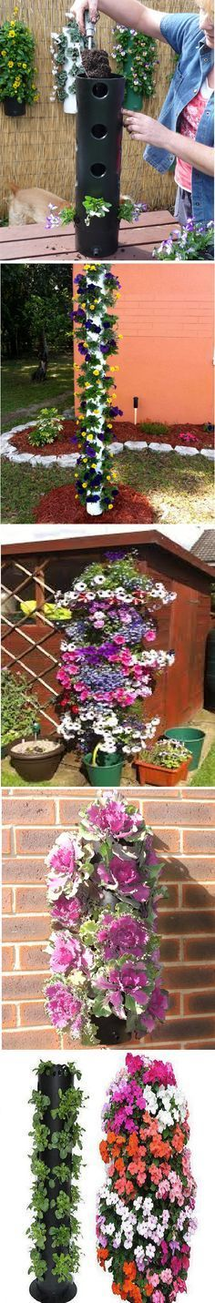 Polanter Vertical Gardening System [vidéo ] Bonjour,cette idées peut convenir pour un balcon,