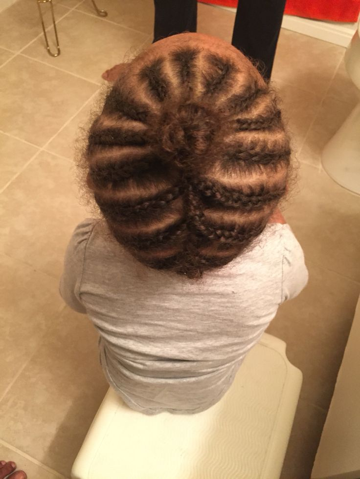 Mayson let me braid her hair. I blow it dry using my Shea butter blend as a heat protectant and Cantu' leave-in conditioner. Then just went to work. After I was done put my scalp oil on her scalp. She couldn't stop looking at herself in the mirror.