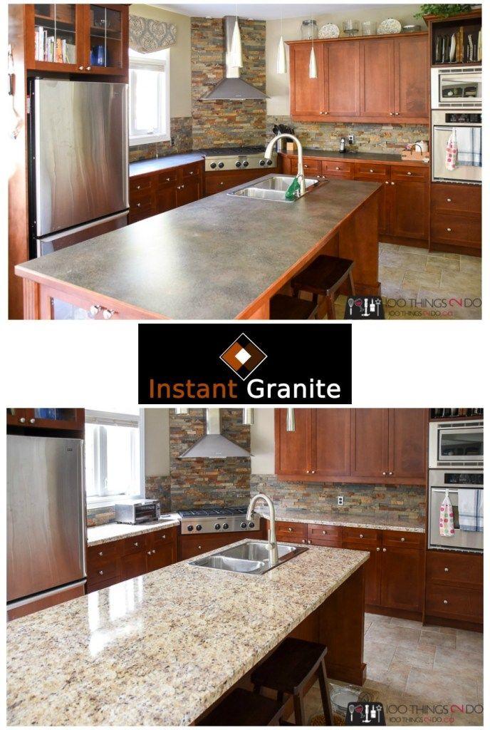 Budget Kitchen Upgrade With Instant Granite Budget Kitchen