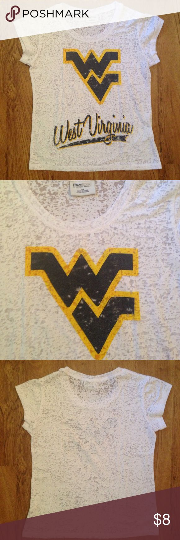 WV Girls Tee Lightweight and perfect for summer! 65% cotton, 35% polyester. Bundle with the Nike WV girls shorts in another listing in my closet for a cute and comfortable outfit! Pro Edge by Knights Apparel Shirts & Tops Tees - Short Sleeve