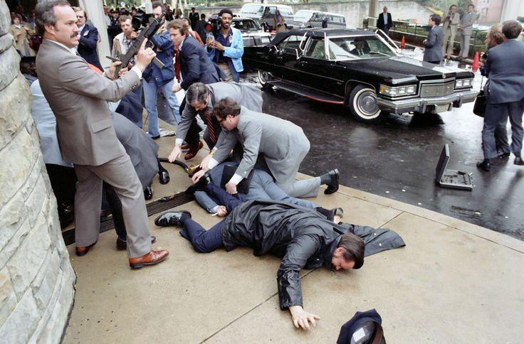 Ronald Reagan is shot, 1981 © Michael Evans / Courtesy of Ronald Reagan Library.