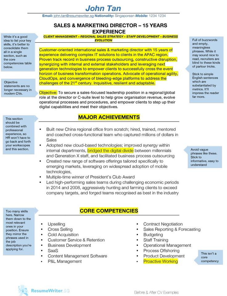 How to Write A Resume Singapore Edition ResumeWriter