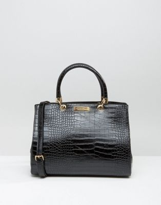 Carvela Tote Bag In Mock Croc