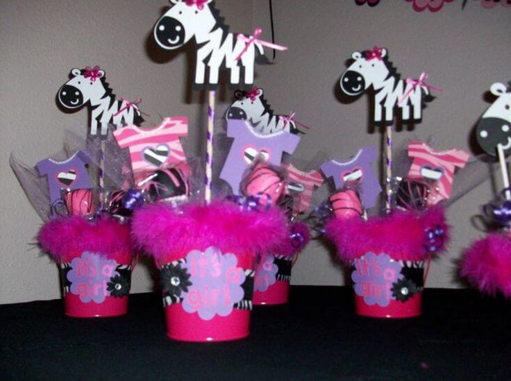 Hot Pink And Zebra Baby Shower Decorations   Zebra Baby Shower Theme Should  Reflect In Everything