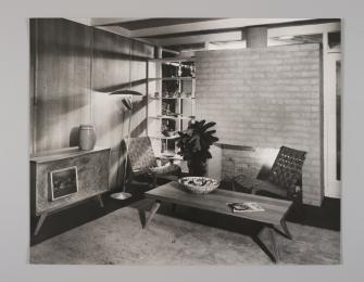 90/1029 Photographic print, black and white, 'House of Tomorrow', paper, Wolfgang Sievers, Melbourne, Victoria, Australia, 1949 [printed 1990] - Powerhouse Museum Collection