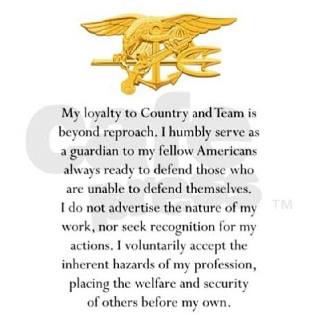 Navy SEAL Creed...