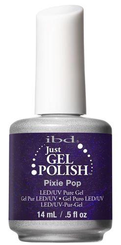 ibd Just Gel Polish PIXIE POP.     ust Gel Polish, gel puro al 100% che si applica come uno smalto donando un effetto brillante sulle unghie, dura 3 settimane e si rimuove in modo semplice e rapido con il suo solvente apposito. Catalizza in 30 sec in lampada LED e 2 min in lampada UV.