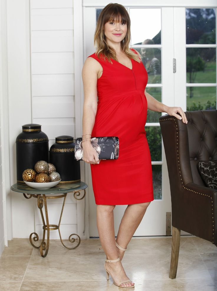 Sleeveless Ponti Party Dress - Lady in Red, $69.95, would even put Kelly LeBrock to shame! The perfect party dress for any special occasion.
