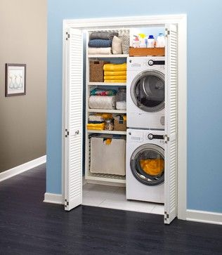 Transitional Laundry Closet Design Ideas, Pictures, Remodel and Decor