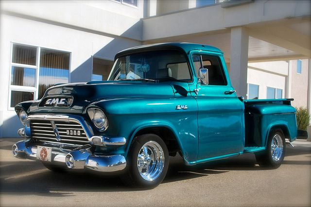1957 GMC Pick up Truck, I had one I put a 455cu. Olds motor and Turbo400 trans in it, it was faster than a Speeding Ticket.