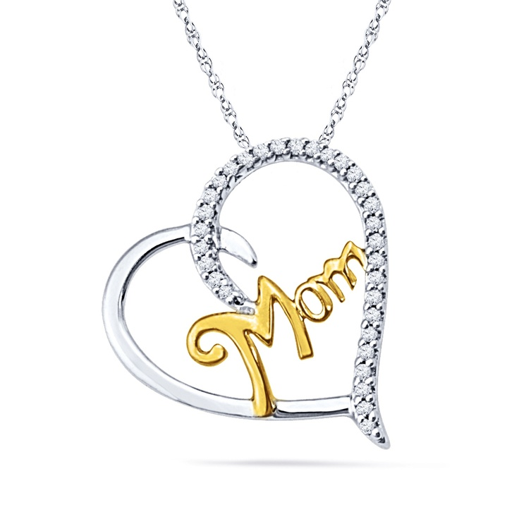 JPEARLS FERVID MOM DIAMOND PENDANT : I LOVE YOU SO MUCH MUM AND THANKS FOR MAKING ME WHAT I AM TODAY!  PRODUCT FEATURES:  GOLD WEIGHT : 1.38 GRAMS  GOLD PURITY : 18 KT  DIAMONDS WEIGHT : 0.100 CT (APX)  DIAMOND COLOR : GH DIAMOND CLARITY : I DIAMOND SHAPE: SINGLE – CUT ROUND NUMBER OF DIAMONDS : 31 BRAND : SRI JAGDAMBA PEARLS OUR PRICE: $169.02