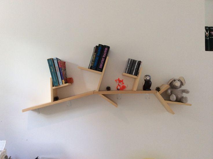branch book shelf, DIY it isn't that difficult as it look!