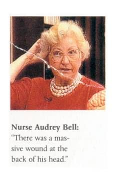 """Five bullet fragments from Gov. John Connally's arm and wrist wounds were given by nurse Audrey Bell to the Secret Service, after which they disappeared from the publicly acknowledged evidence. In her HSCA interview, she describes in detail how she placed the fragments in a vial, a one-ounce medicine glass, then sealed it in a carefully labelled """"foreign body"""" envelope before handing it to Secret Service agent Forrest Sorrels."""