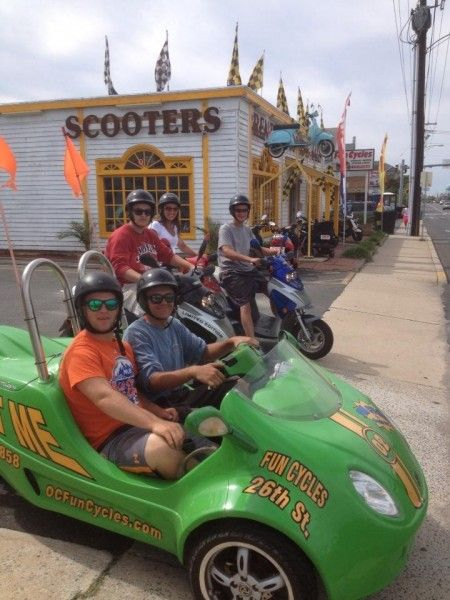 Cruising Ocean City in style in these little guys from Fun Cycles! #ocmd