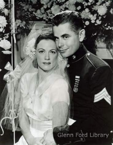 [MARRIED] Eleanor Powell & Glenn Ford on their wedding day in 1943.
