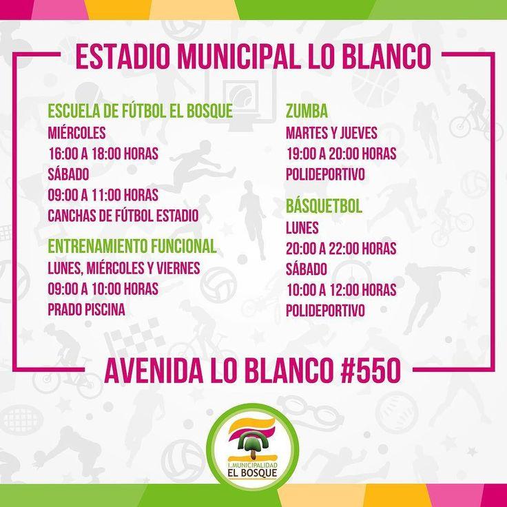 Talleres deportivos en el Estadio Municipal Lo Blanco. Más información al fono 225295606