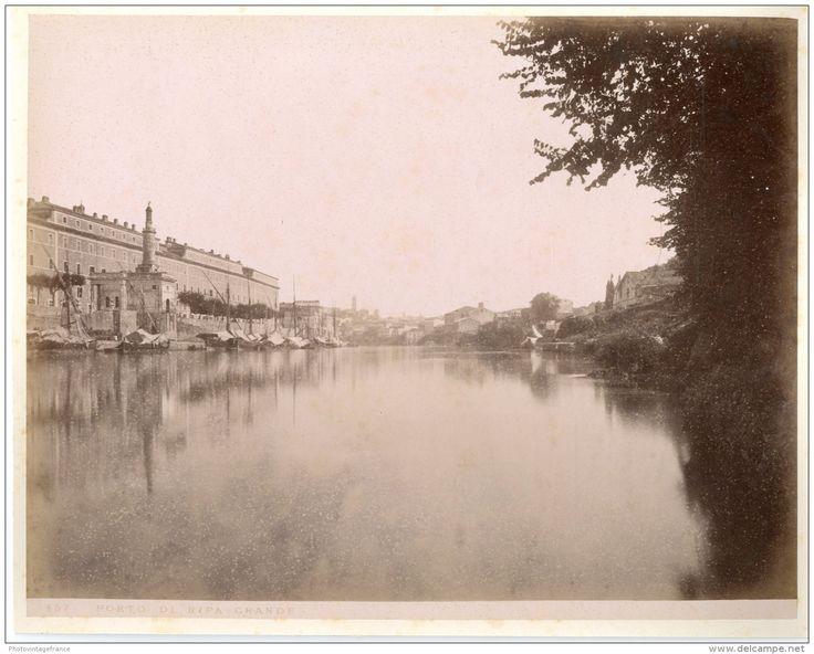 Italie, Roma, Porto di Ripa  1880