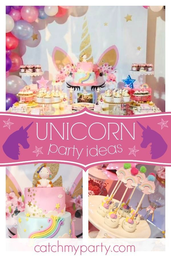 Unicorn Birthday Magical Unicorn 1st Birthday Party Catch My Party Baby Birthday Party Girl Tea Party Birthday Unicorn Party