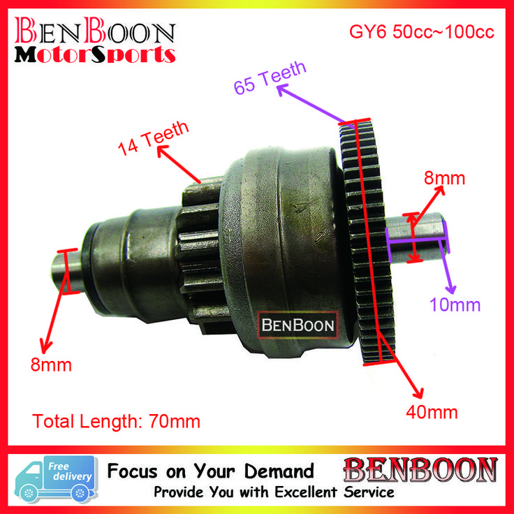 Big sale US $9.20  GY6 50cc Engine Parts Start Clutch Gear Bendix 139QMB Chinese Scooter Parts ATV Part Znen Baotian Taotao Roketa, Free Shipping  #Engine #Parts #Start #Clutch #Gear #Bendix #Chinese #Scooter #Part #Znen #Baotian #Taotao #Roketa #Free #Shipping  #Online