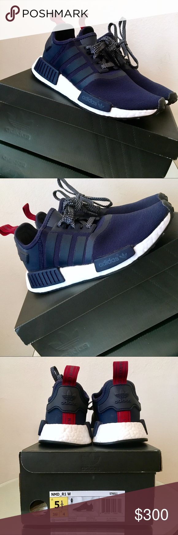 Adidas NMD_R1 W S76011 Navy/Burgundy Dead Stock Brand new Adidas NMD_R1 W S76011 Navy/Burgundy/White 2016 Dead Stock sold out size in original box. My husband thought it would be a good idea to get matching athletic shoes and I know these are super on tre