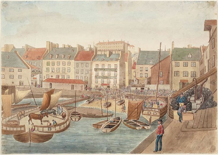 The market for low-Quebec City seen from the dock McCallum, July 4, 1829