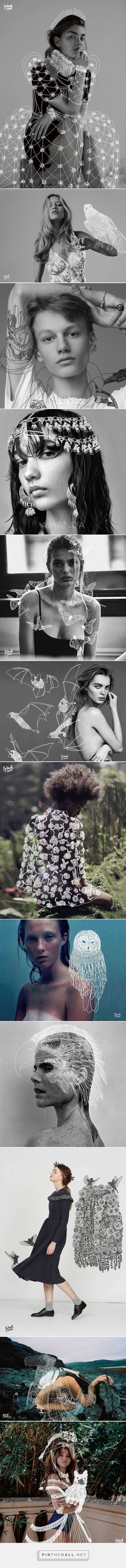 Dr. Propolus Treats Serious Fashion Photos with Lighthearted Doodles