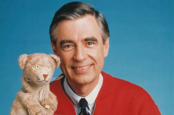 Mr Rogers With The Original Daniel Tiger Mister Rogers Neighborhood Fred Rogers Mr Rogers