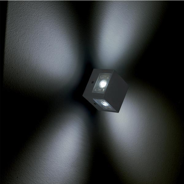 SERIE K3 MINILED - FARETTO PLURIDIREZIONALE LED.  Produttore: GOCCIA ILLUMINAZIONE SRL  MADE IN ITALY.  Tipo di lampadina: LED- 4X2W 140 LUMEN PER FACCIATA (560 LUMEN TOT.)  Numero di lampadine: 4  Lampadina inclusa: si  Tipologia sorgente: LED  Emissione luce: 12° OPPURE 50°