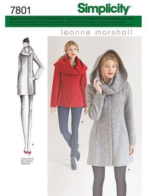 Schnittmuster: Jacke + Mantel - Mäntel - Jacken & Mäntel - Damen - burda style
