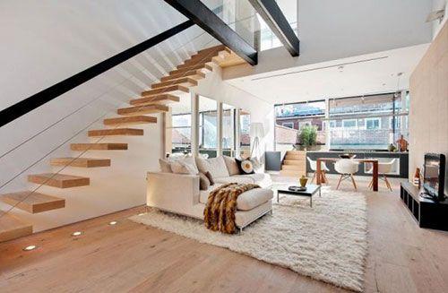Zevende trap woonkamer