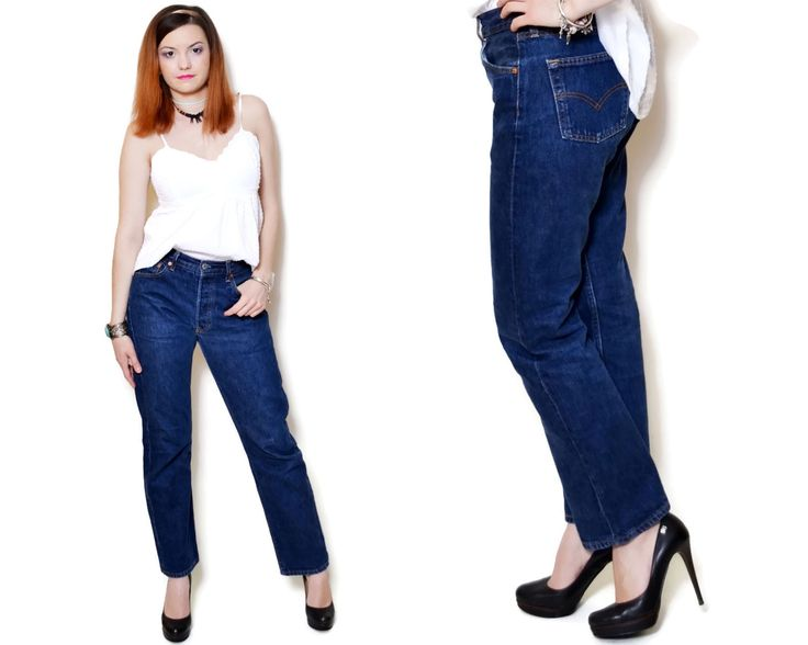 Vintage high waisted jeans made in USA by Levis. Model: 501. The model on the pictures is size S/36 and 165 cm height. Please check measurements with your own to avoid problems with the size. Make sure you double the measurements where shown (*2):  Label size: W30 L/30 Total lenght: 102.5 cm / 40.25 inches Waist: 35 cm *2 / 13.75 inches *2 Hips: 47.5 cm *2 / 18.75 inches *2 Thigh: 25.5 cm / 10 inches *2 Lenght from the crotch to bottom: 72 cm / 28.25 inches ...