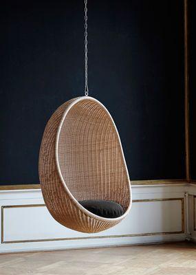 Coussin d'assise / Pour fauteuil Œuf Coussin / Noir - Sika Design