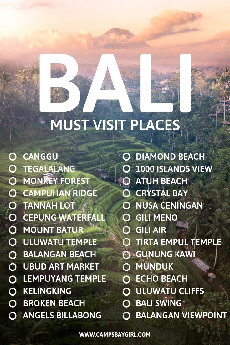 8 Places For Epic Instagram Photos in Bali Indonesia