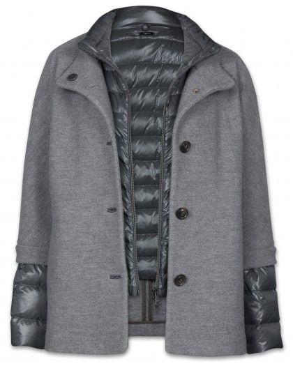 Damen mantel grau kurz