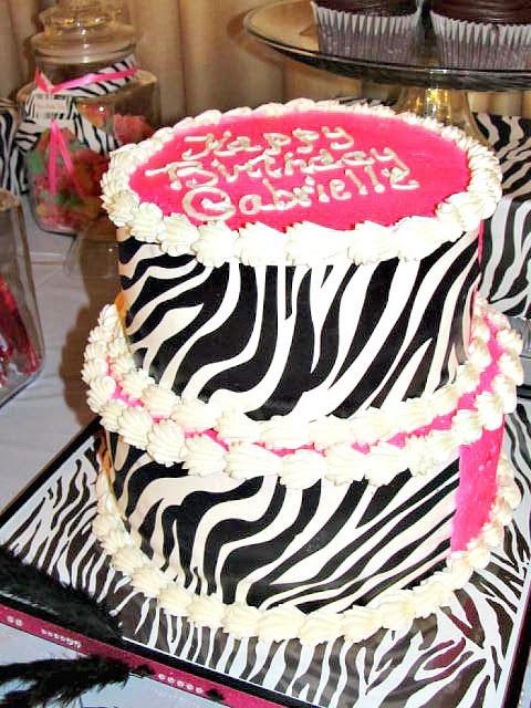 Zebra Print Cake Idea