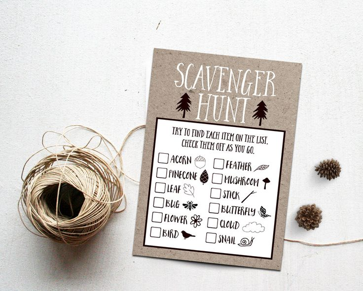 Scavenger Hunt Printable Instant Download, Nature Walk Search and Find Outdoor Birthday Party Game Camping Party Games, Lumberjack Adventure by INVITEDbyAudriana on Etsy https://www.etsy.com/listing/288531795/scavenger-hunt-printable-instant