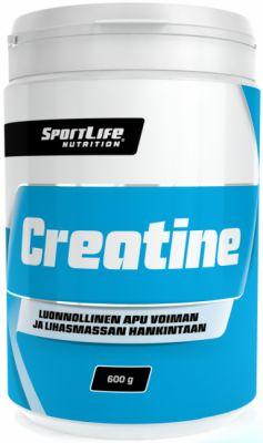 Kreatiini, SportLife Creatine, 600 g - Kuntokauppa.fi