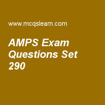 Practice test on amps, computer networks quiz 290 online. Practice networking exam's questions and answers to learn amps test with answers. Practice online quiz to test knowledge on amps, domain names, bluetooth lan, voice over ip, multicast routing protocols worksheets. Free amps test has multiple choice questions as d-amps is a digital cellular phone system using, answers key with choices as tdma, fdma, wma and both a and b to test study skills. For learning, practice online wireles....
