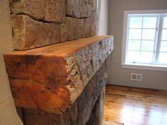 Reclaimed Mantels, Rustic Mantles, Custom Wood Fireplace Mantels, Shelves & Surround