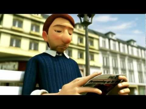 Silent film interpretation for children to practice emotion identification. The Lonely Bachelor - 2012 Animated Short Film
