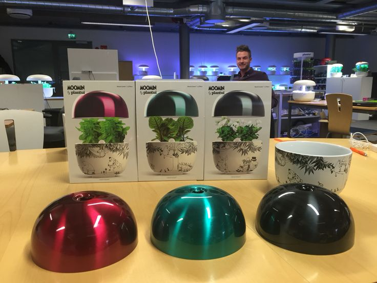 Moomin Garden has arrived at the Plantui office. Designed by Janne Loiske, with stylish hats in 3 colours.