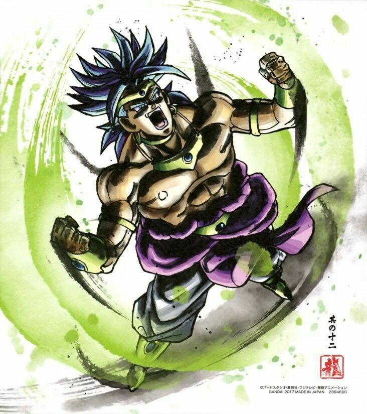 Dragon Ball Shikishi Art Part.7 Broly Complete Set Japn