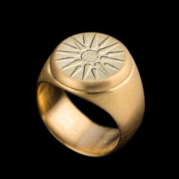 Anillo de oro rosado de 18 k anillo declaración estrellas
