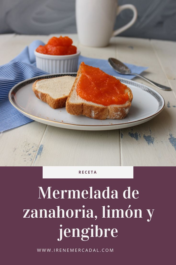 Esta mermelada de zanahoria, limón y jengibre es tan deliciosa y fresca como original, para ver la receta entra aquí. #mermeladazanahorialimon #recetamermeladazanahoria #recetamermeladaorginal Nom Nom, French Toast, Pastel, Sweets, Bread, Baking, Breakfast, Desserts, Food