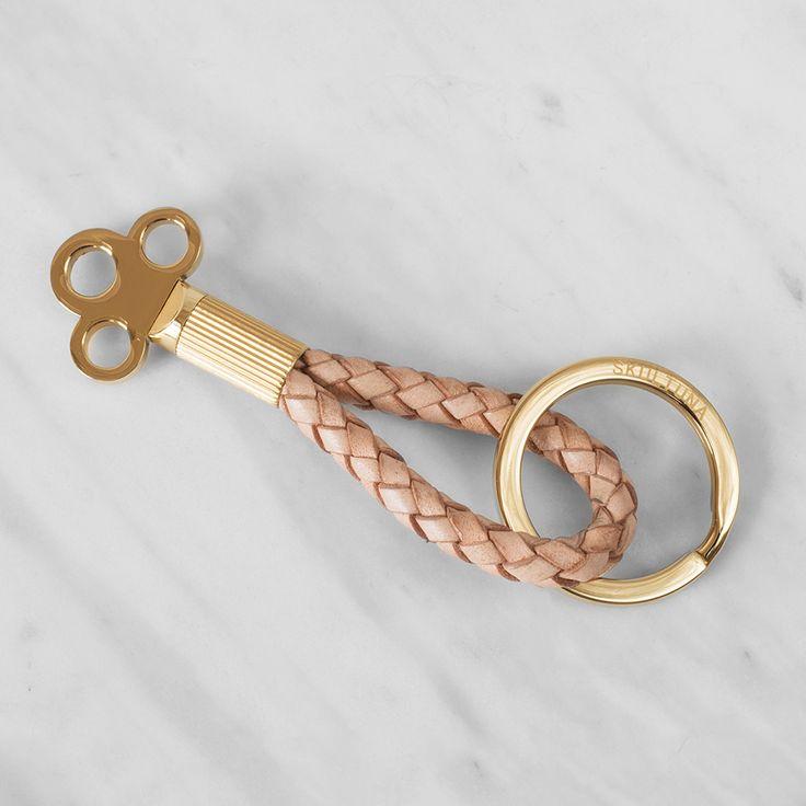 The Key Nyckelring, Natur/Guld, Skultuna