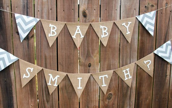 burlap baby showers parties baby showers burlap banners party photo
