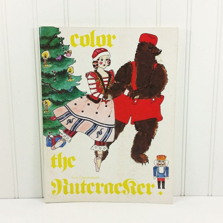 Color The Nut Cracker. A Pacific Northwest Ballet Coloring Book Holiday Souvenir with illustrations by Nancy Fulton  offered by #naturegirl22.Etsy.com
