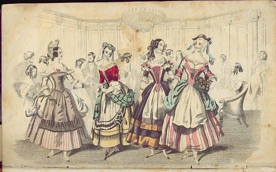 1844 Godeys: Fancy dress