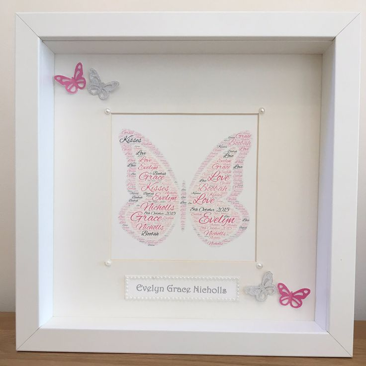 """Butterfly Designs on Twitter: """"Our Personalised Butterfly Pictures available now https://t.co/YMYixsxJAm all colours available on request #butterflies #handmade #pink #art https://t.co/vJCrmC7yC6"""""""